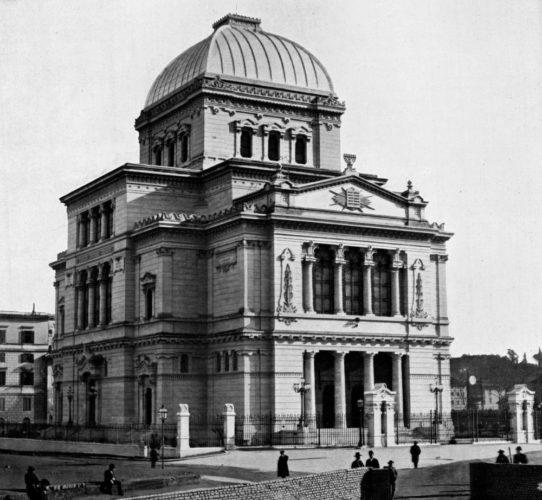La nuova sinagoga di Roma, costruita all'inizio del Novecento -  Archivio storico Comunità ebraica Roma