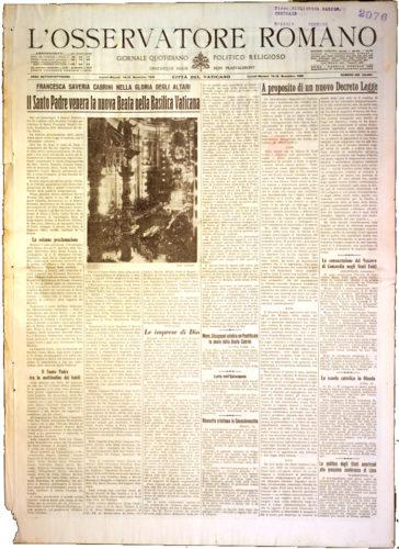 """A proposito di un nuovo decreto legge, """"Osservatore romano"""", 14 novembre 1938 - Biblioteca nazionale centrale, Firenze"""