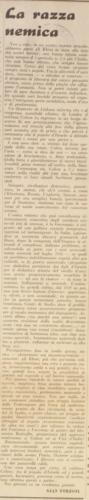 La razza nemica, «Repubblica», 6 novembre 1943 - Biblioteca nazionale centrale, Firenze
