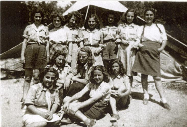 Primo campeggio dopo la guerra di un gruppo di Giovani Esploratori Ebrei d'Italia, Bivigliano, nei pressi di Firenze, 1946 - Archivio CDEC, fondo fotografico Gisella Vita Finzi