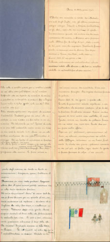 """Dal diario di Bruna Cases, 31 ottobre 1943: il racconto dell'espatrio in Svizzera - Archivio CDEC, Fondo Vicissitudini dei singoli, b. 4, fasc. 119   - <a href=""""http://digital-library.cdec.it/cdec-web/storico/detail/IT-CDEC-ST0005-000207/cases-bruna.html"""" target=""""_blank""""  >vai alla scheda</a>"""