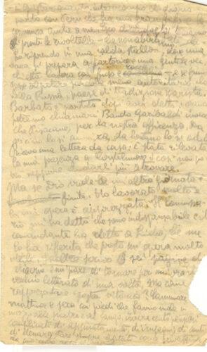 Dal diario di Emanuele Artom, 26 dicembre 1943: la vita partigiana. - Archivio CDEC, Fondo Emanuele Artom, b. 1, fasc. 9
