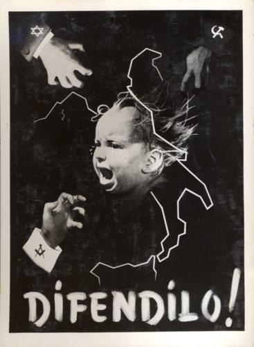 Manifesto di propaganda della Repubblica Sociale Italiana - Fondazione Micheletti, Brescia, Archivio storico