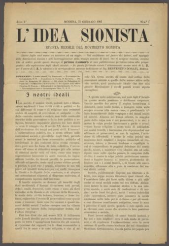 """I nostri ideali, """"L'Idea sionista"""", 1901, n.1. Una delle testate più importanti del movimento sionista italiano - Biblioteca CDEC - <a href=""""http://digital-library.cdec.it/cdec-web/biblioteca/detail/periodical-CDEC10400001876/l-apos-idea-sionista-rivista-mensile-del-movimento-sionista.html"""" target=""""_blank""""  >vai alla scheda</a>"""