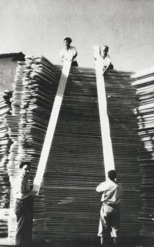 """Lavoro obbligatorio a Gorizia, 1942 - Archivio CDEC, Fondo Legislazione antiebraica, fasc. """"precettazioni a Gorizia"""""""