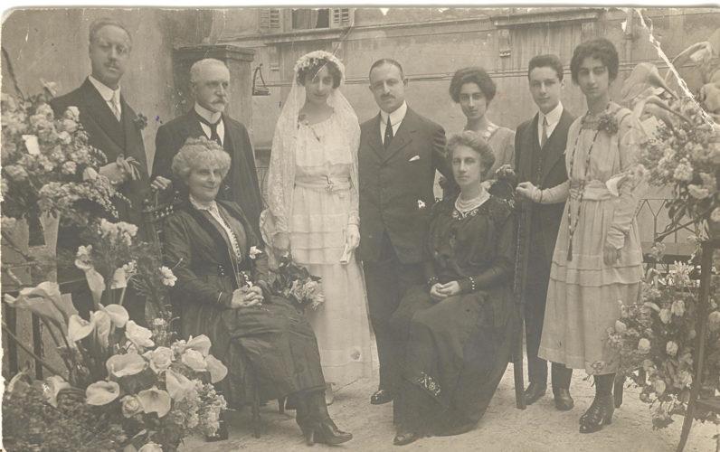 Nozze di Corrado Tagiuri e Giulia Platchick, 1900 ca. - Archivio CDEC, Fondo  fotografico Amelia Augusta Soria Orefice