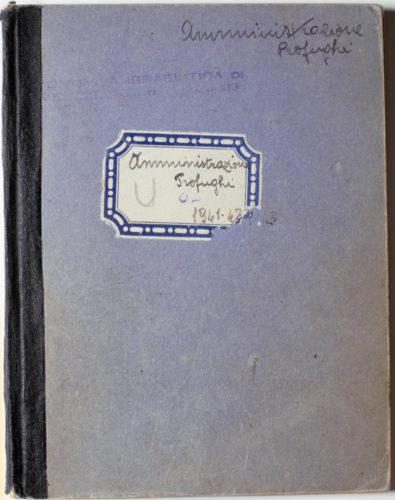 Il registro contabile della Delasem - Archivio CDEC, Fondo soccorritori,  b. 2, fasc. 9