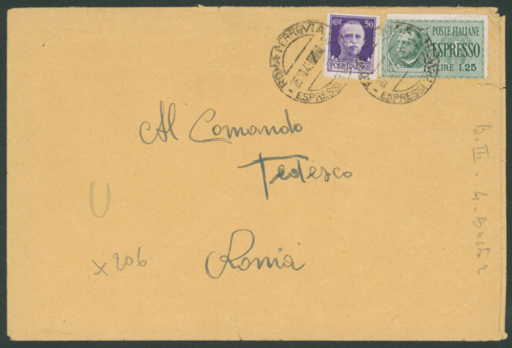 """Delazione di un """"amico della Germania"""" contro Benedetto Veneziano, 7 novembre 1943 - busta - Archivio CDEC, Fondo Vicissitudini dei singoli, b. 29, fasc. 776   - <a href=""""http://digital-library.cdec.it/cdec-web/storico/detail/IT-CDEC-ST0005-000922/veneziano-benedetto.html"""" target=""""_blank""""  >vai alla scheda</a>"""