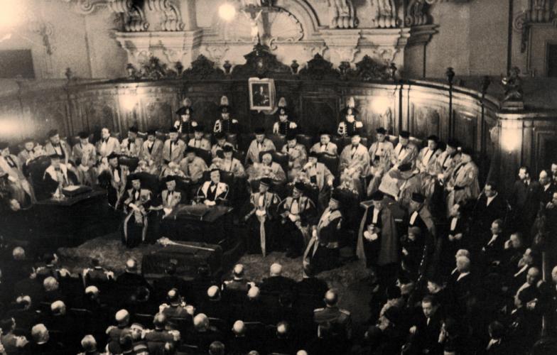 La corte d'appello di Bologna presieduta dal giudice Gino Leone Modena - Archivio privato, Modena
