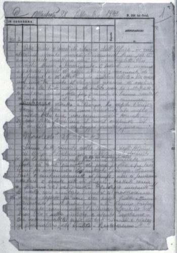 Dal diario di Rosi Scotti Douglas, 28 e 29 settembre 1943: l'internamento nel campo di Borgo San Dalmazzo - CDEC, Archivio storico, fondo 5F, f. campo di Borgo San Dalmazzo