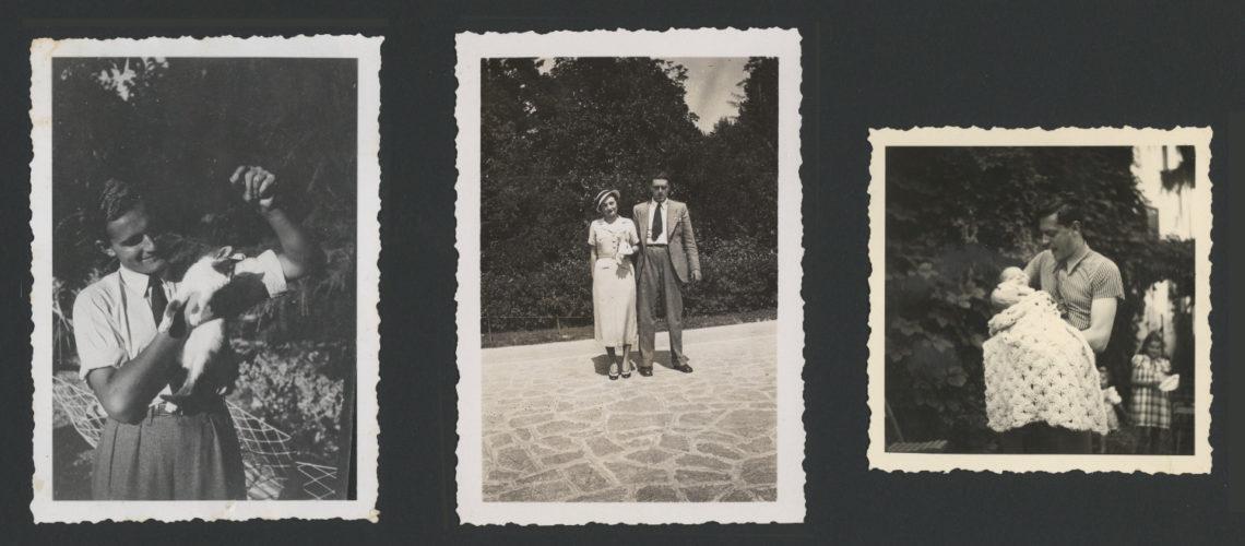 Vittorio Pisa con la moglie e la figlia, Firenze 1938 - Archivio privato, Fiesole