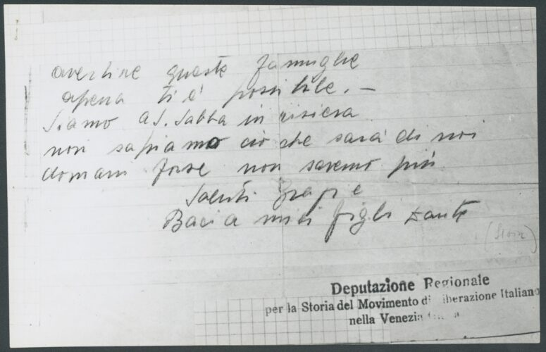 """Trascrizione dei graffiti sui muri del campo della Risiera di San Sabba di Trieste """"...Non sappi - <a href=""""http://digital-library.cdec.it/cdec-web/storico/detail/IT-CDEC-ST0027-000065/trieste-risiera-san-sabba.html"""" target=""""_blank""""  >vai alla scheda</a>"""